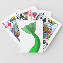 Green Mermaid Tail Bicycle Playing Cards