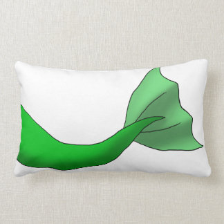 Green Mermaid Tail Lumbar Pillow