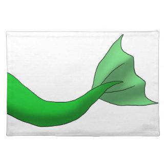 Green Mermaid Tail Place Mats