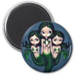 """""""Green Mermaid Triplets"""" Magnet"""