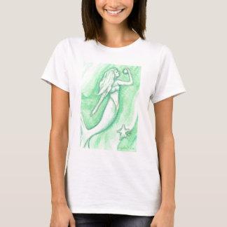 Green Mermaid with Pearl and Starfish Shirt
