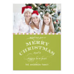 GREEN MERRY CHRISTMAS PHOTO CARD INVITATIONS