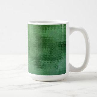 Green Mesh Glass Effect Art Coffee Mug