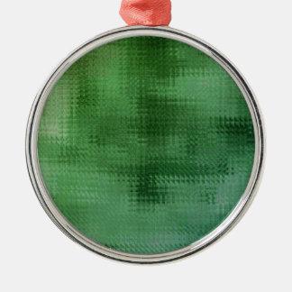 Green Mesh Glass Effect Art Metal Ornament