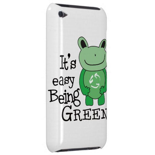 Green Message Barely There iPod Covers