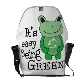 Green Message Courier Bags