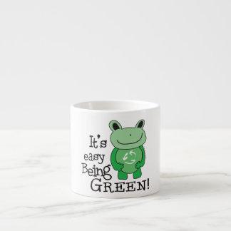 Green Message Espresso Cup