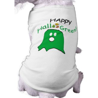 Green Message Halloween Ghost petshirt