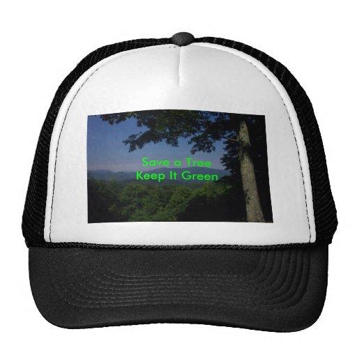 Green Message Mesh Hats
