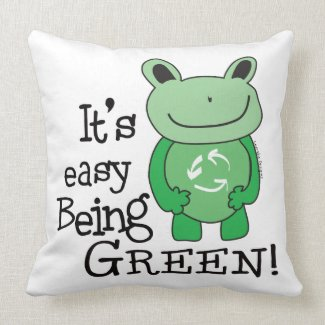 Green Message Pillows