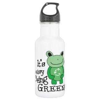 Green Message Stainless Steel Water Bottle
