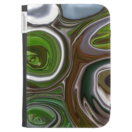 'Green metal abstract' Kindle case