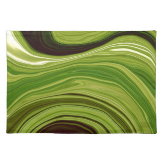 """""""green metal abstract"""" placemats"""