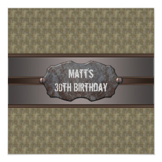 Green Metal Mans 30th Birthday Party Announcement