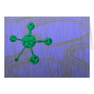 Green Metal Satellite Card