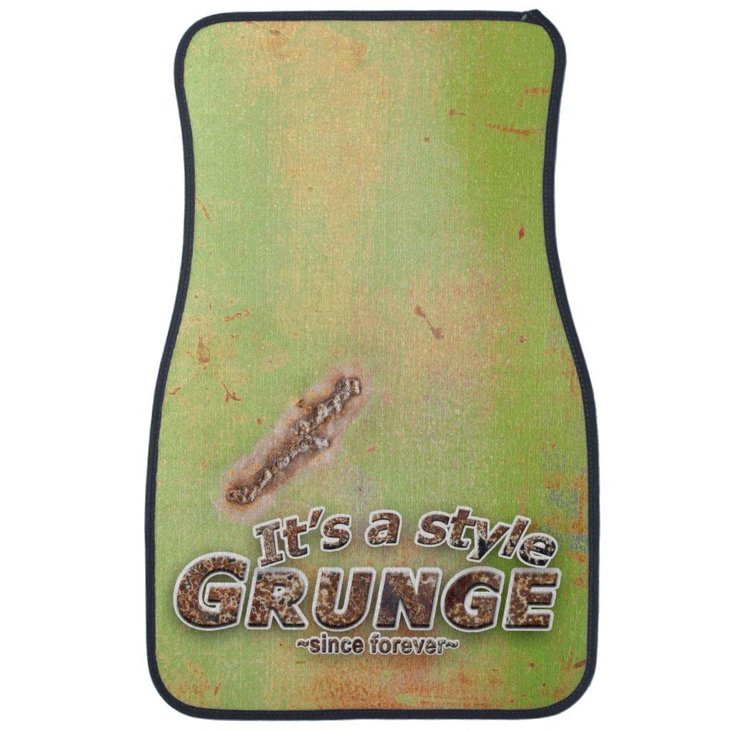 Green Metal Weld Photograph Car Floor Mat