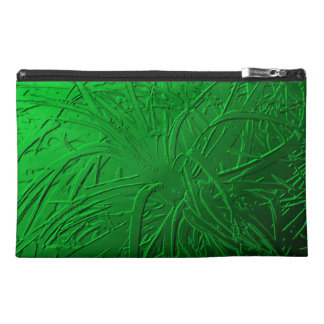 Green Metallic Air Plant Relief Travel Accessory Bag