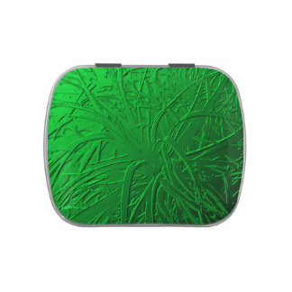 Green Metallic Air Plant Relief Jelly Belly Candy Tins