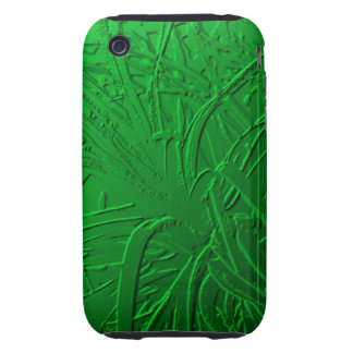 Green Metallic Air Plant Relief Tough iPhone 3 Covers