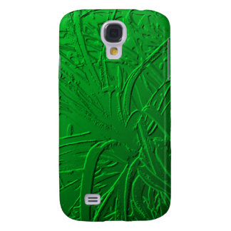 Green Metallic Air Plant Relief Samsung Galaxy S4 Covers