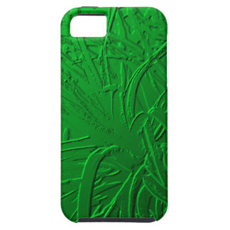 Green Metallic Air Plant Relief iPhone 5 Cover
