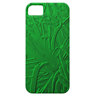 Green Metallic Air Plant Relief iPhone 5 Covers
