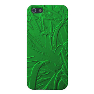 Green Metallic Air Plant Relief Cases For iPhone 5