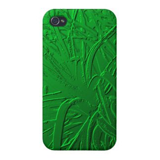 Green Metallic Air Plant Relief iPhone 4/4S Case