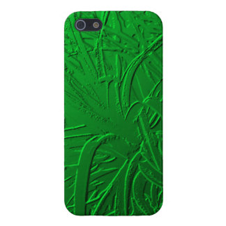 Green Metallic Air Plant Relief iPhone SE/5/5s Cover