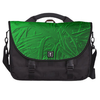 Green Metallic Air Plant Relief Laptop Bags