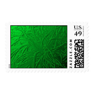 Green Metallic Air Plant Relief Stamps