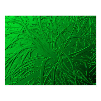 Green Metallic Air Plant Relief Postcard