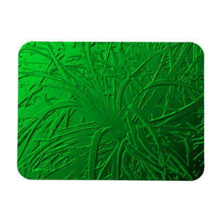 Green Metallic Air Plant Relief Rectangle Magnets