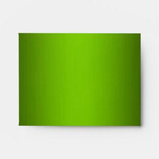 Green Metallic Black White Stripe NoteCard Env Envelope