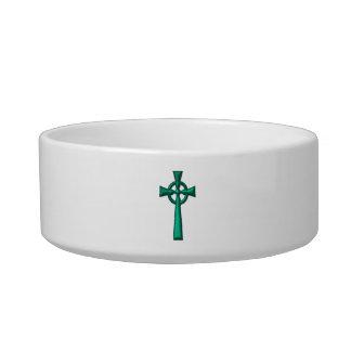 Green Metallic Celtic Cross Bowl
