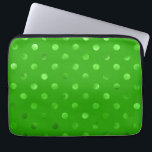 "Green Metallic Faux Foil Polka Dot Background Laptop Sleeve<br><div class=""desc"">Use our cool template, artwork, photo, graphic, or illustration, then add a name, text, quote, or monogram to create your own custom or monogrammed laptop cover. Click the &quot;Customize it!&quot; button to make it totally customized. These computer covers are great gifts for men, women, and kids (and you, too, of...</div>"