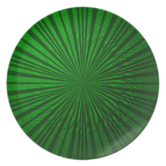 Green Metallic Illusion Plate