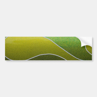 Green metallic pattern bumper sticker