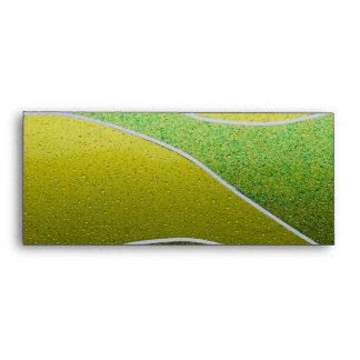 Green metallic pattern envelopes