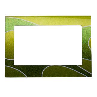 Green metallic pattern magnetic frame