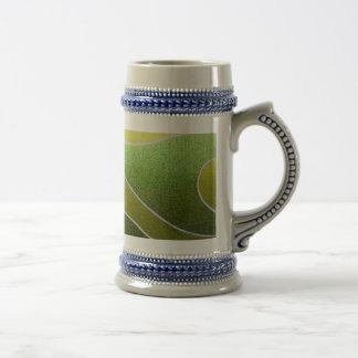 Green metallic pattern coffee mug