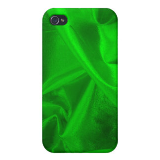 Green Metallic Textile Hard Shell Case for iPhone