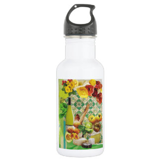 Green Mexican Tile Stainless Steel Water Bottle
