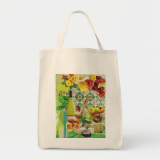 Green Mexican Tile Tote Bag
