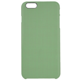 Green Microdot Patterned Uncommon Clearly™ Deflector iPhone 6 Plus Case