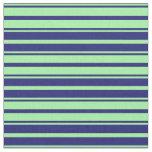 [ Thumbnail: Green & Midnight Blue Pattern Fabric ]
