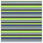 [ Thumbnail: Green, Midnight Blue, Powder Blue, Gray & Black Fabric ]