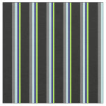 [ Thumbnail: Green, Midnight Blue, Turquoise, Dim Grey & Black Fabric ]