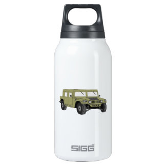 Green Military Humvee Insulated Water Bottle