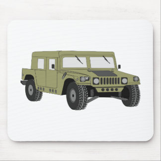 Green Military Humvee Mouse Pad